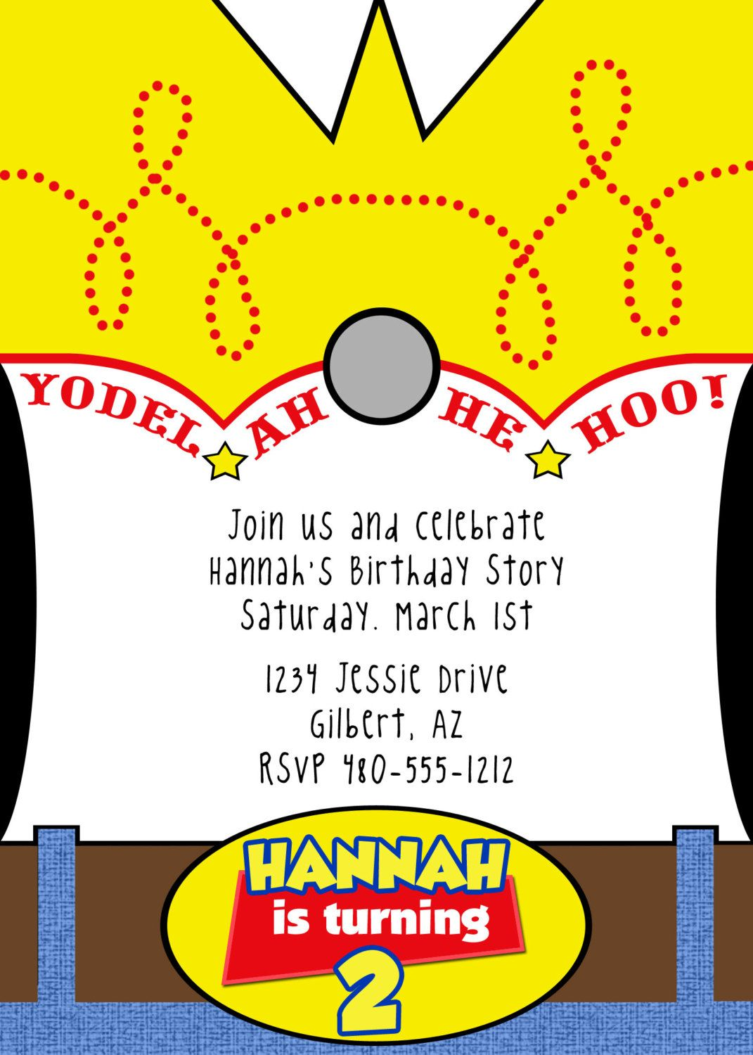 PRINTABLE Toy Story Inspired Party Invitation - Woody or Buzz ...
