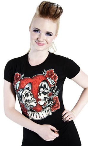 LUCKY 13 LOS AMANTES GIRLY TEE