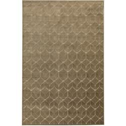 Photo of benuta Naturals viscose carpet woody beige / green 120×170 cm – modern carpet for living room