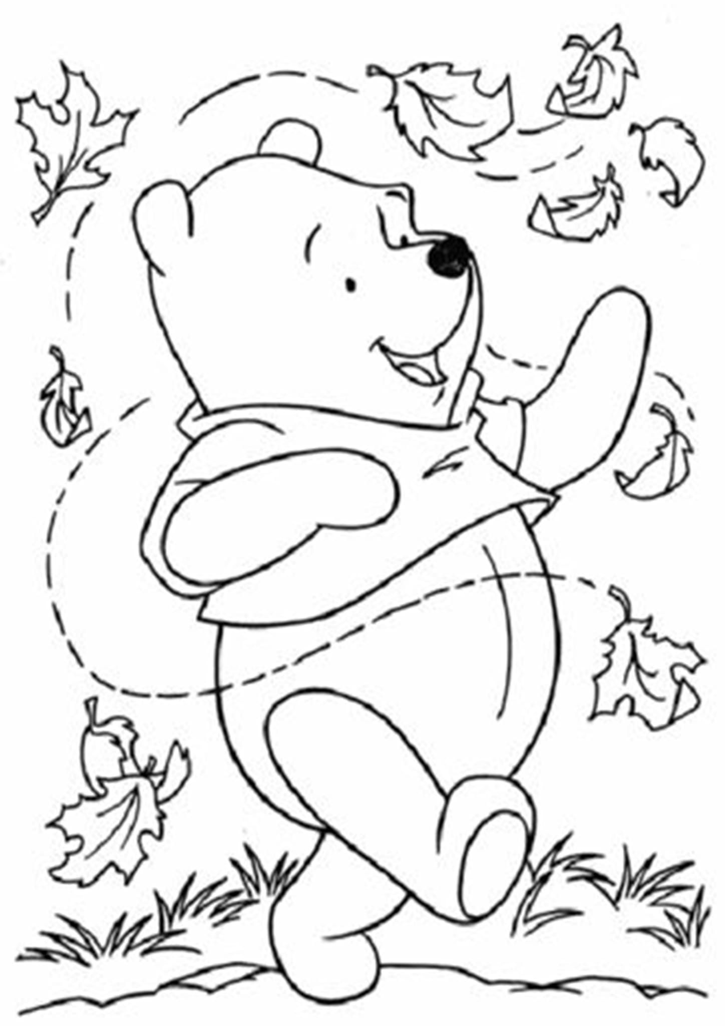 Free Easy To Print Winnie The Pooh Coloring Pages Fall Coloring Pages Disney Coloring Pages Fall Coloring Sheets [ 2048 x 1448 Pixel ]
