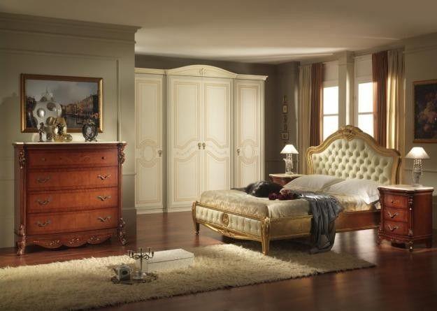 Abbinare i colori dei mobili - Armadio bianco e cassettiere noce ...