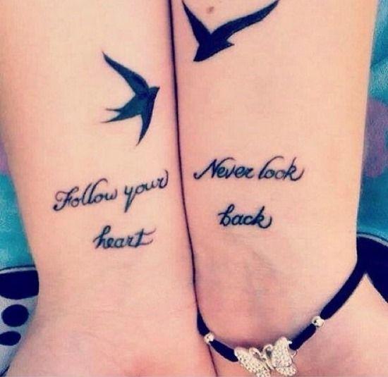 Best Friend Sayings For Tattoos Best friend quote tattoo idea ...