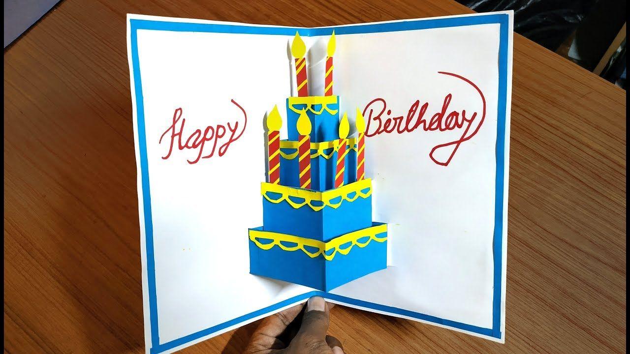 Beautiful Birthday Greeting Card Idea Diy Birthday Pop Up Card Diy Gr Diy Greeting Cards For Birthday Greeting Cards Diy Birthday Greeting Cards