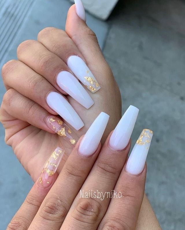 15 Color Changing Nail Inspirations Cool Nail Art Designs 2020 Her Style Code In 2020 Bridal Nails White Acrylic Nails Coffin Nails Designs