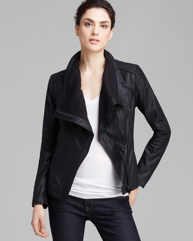Elie Tahari Jacket Andreas Drape Front Leather Women Bloomingdale S Elie Tahari Jacket Jackets Drape Front [ 1500 x 1200 Pixel ]