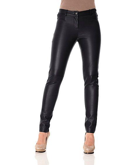5d33284c1050ec PATRIZIA DINI - Leather leggings Lamm
