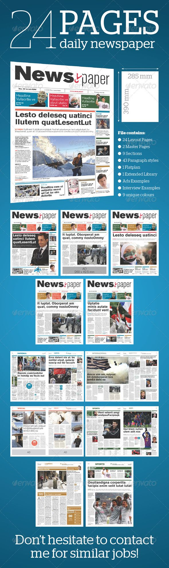 24 Pages Daily Newspaper | Newsletter templates