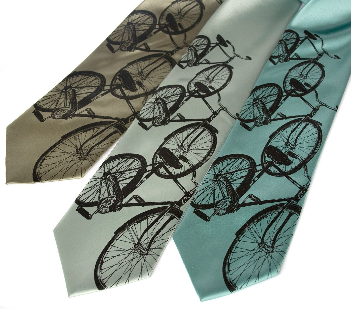 Bicycle Tie. Cruiser Bike Print Necktie. Gift for cyclist ...