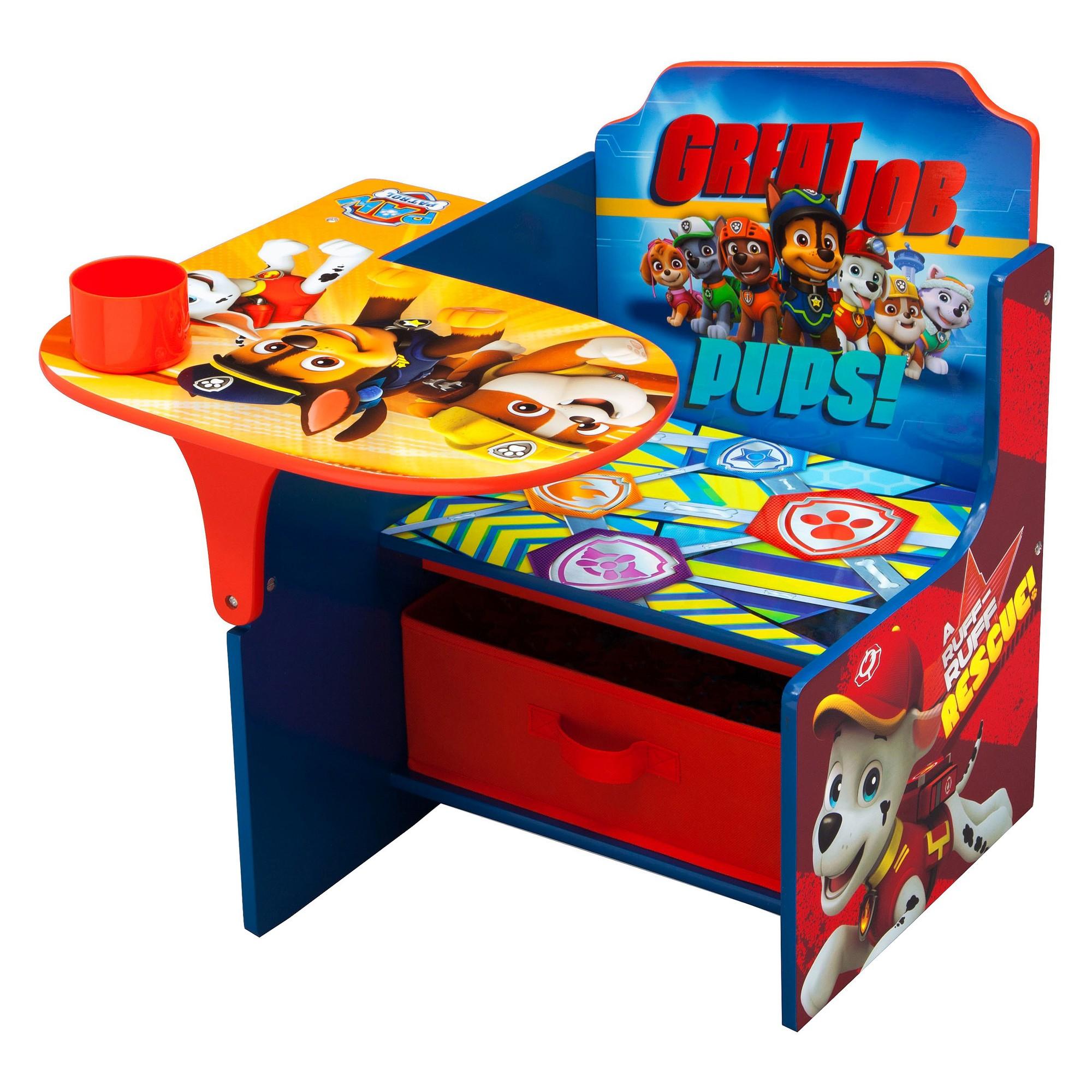 Nick Jr Paw Patrol Chair Desk With Storage Bin