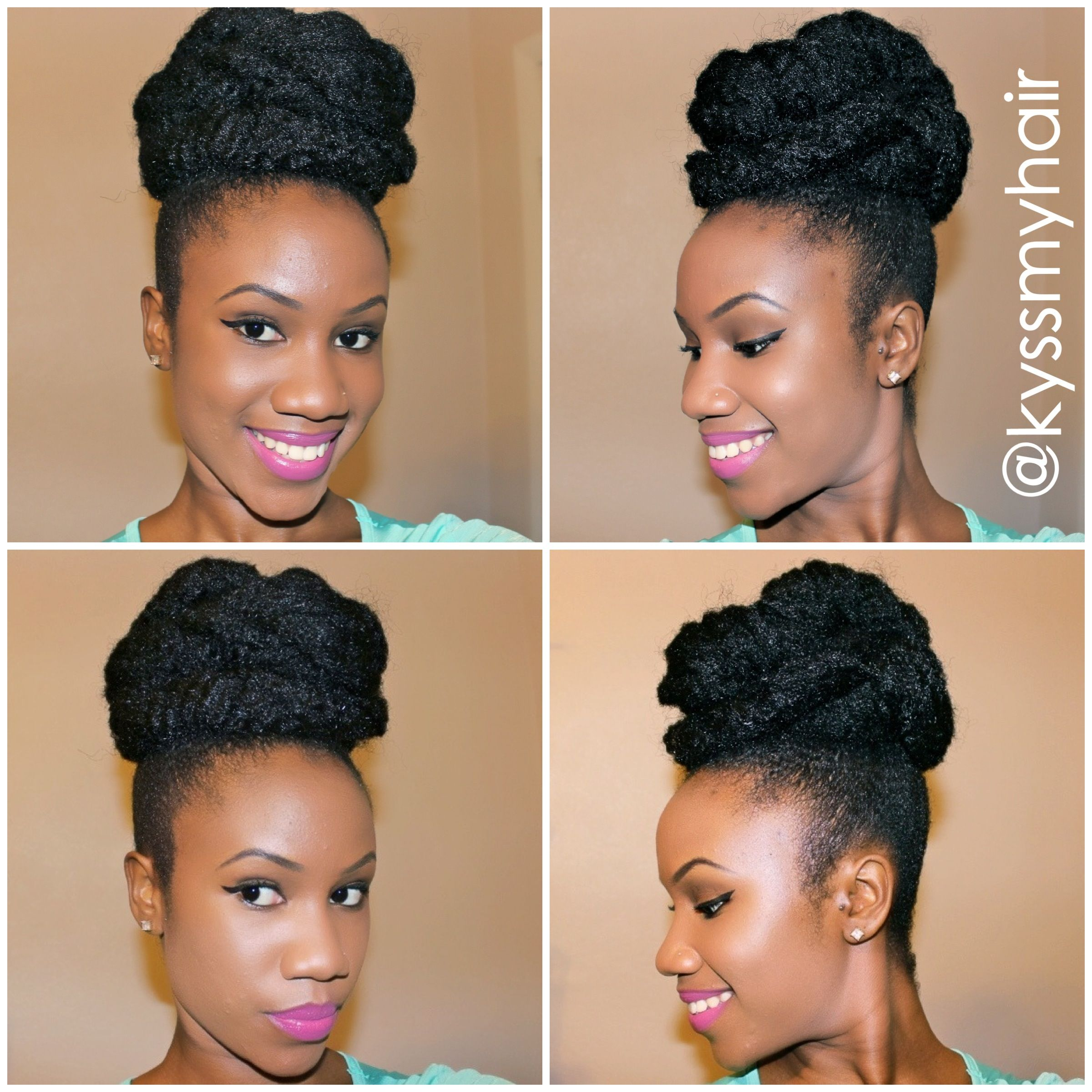 The mega u saturn bun special occasion updos on natural hair