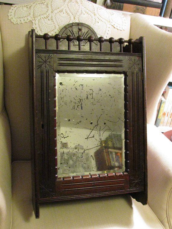 Antique Victorian Wall Cabinet Medicine By Aldantiks 195 00