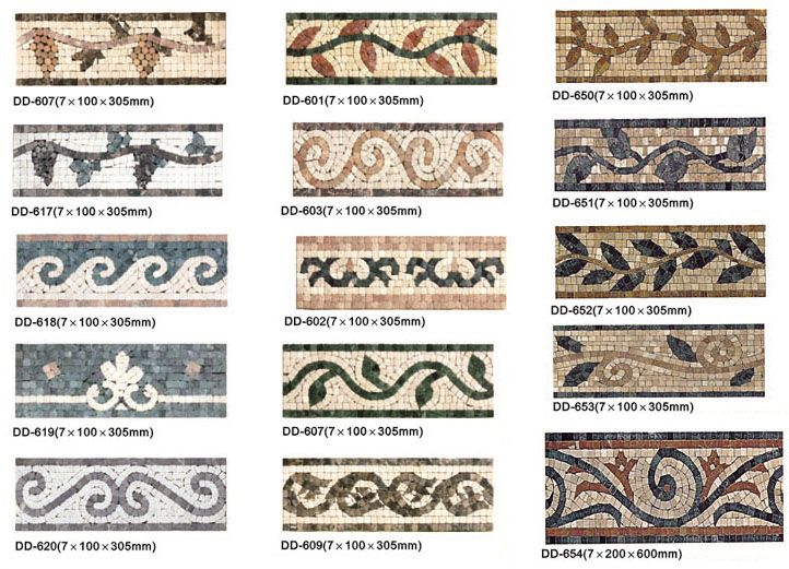 marble flooring border designs | mermer / marble mozaik ...