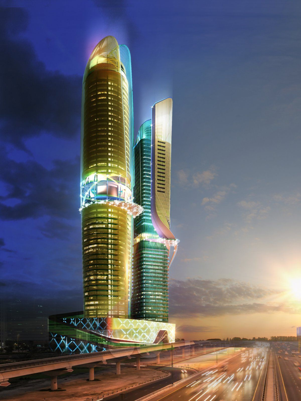 images New Dubai Towers Will Have Indoor Rainforest And Manmade Beach