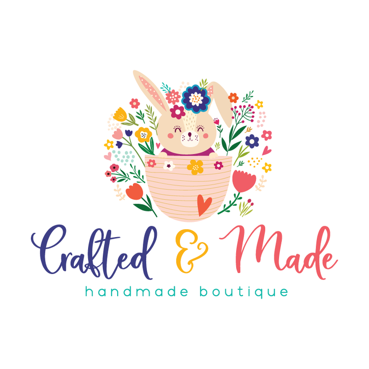Cute Bunny Premade Logo Design - Customized with Your Business Name ...