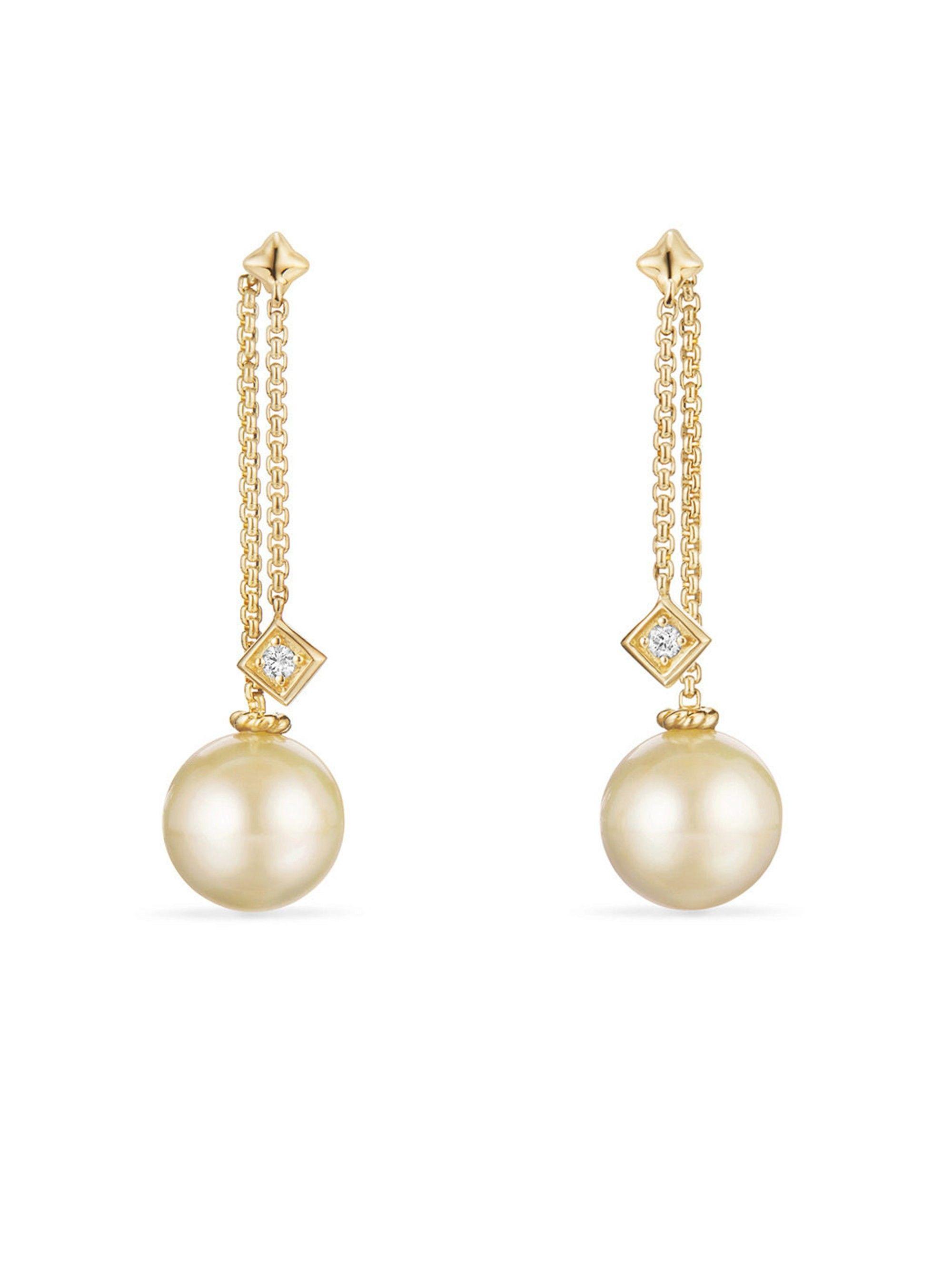 06cec1682fc34 David Yurman Solari Drop Earrings In 18K Gold With Diamonds - Yellow ...