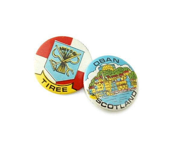 Vintage 1970s Scottish Holiday Souvenir Badges by FabPins