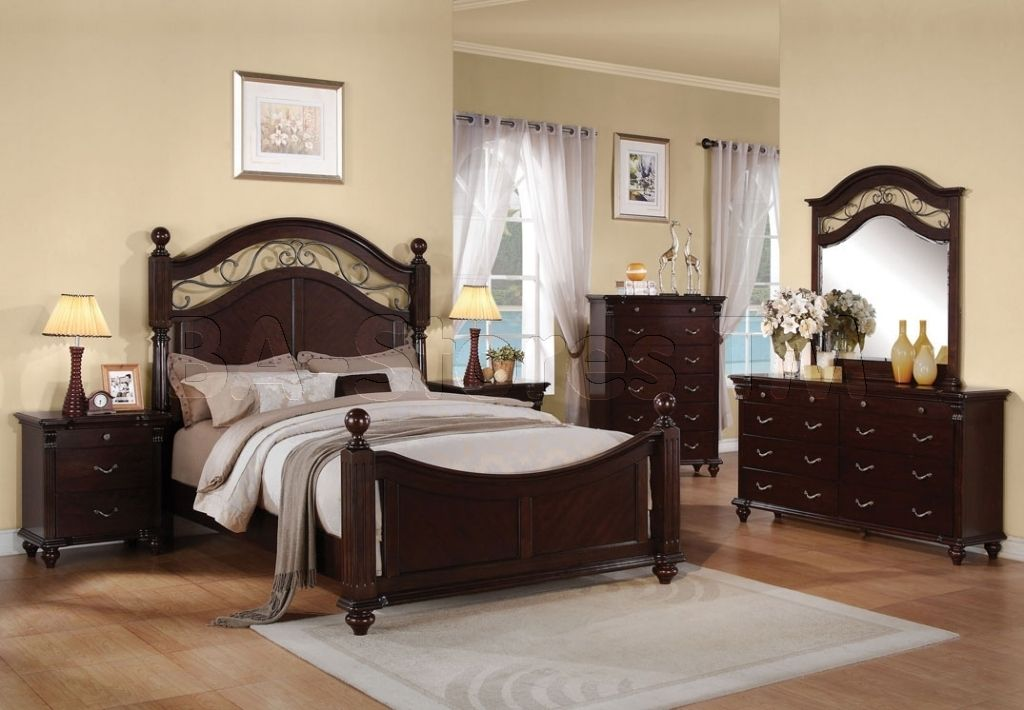 Acme Vendome California King Bed Cherry Pu 21994ck Beds And