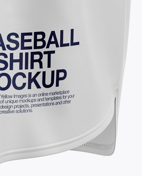 Download Men's Baseball Jersey Mockup - Halfside View (Close-Up ...
