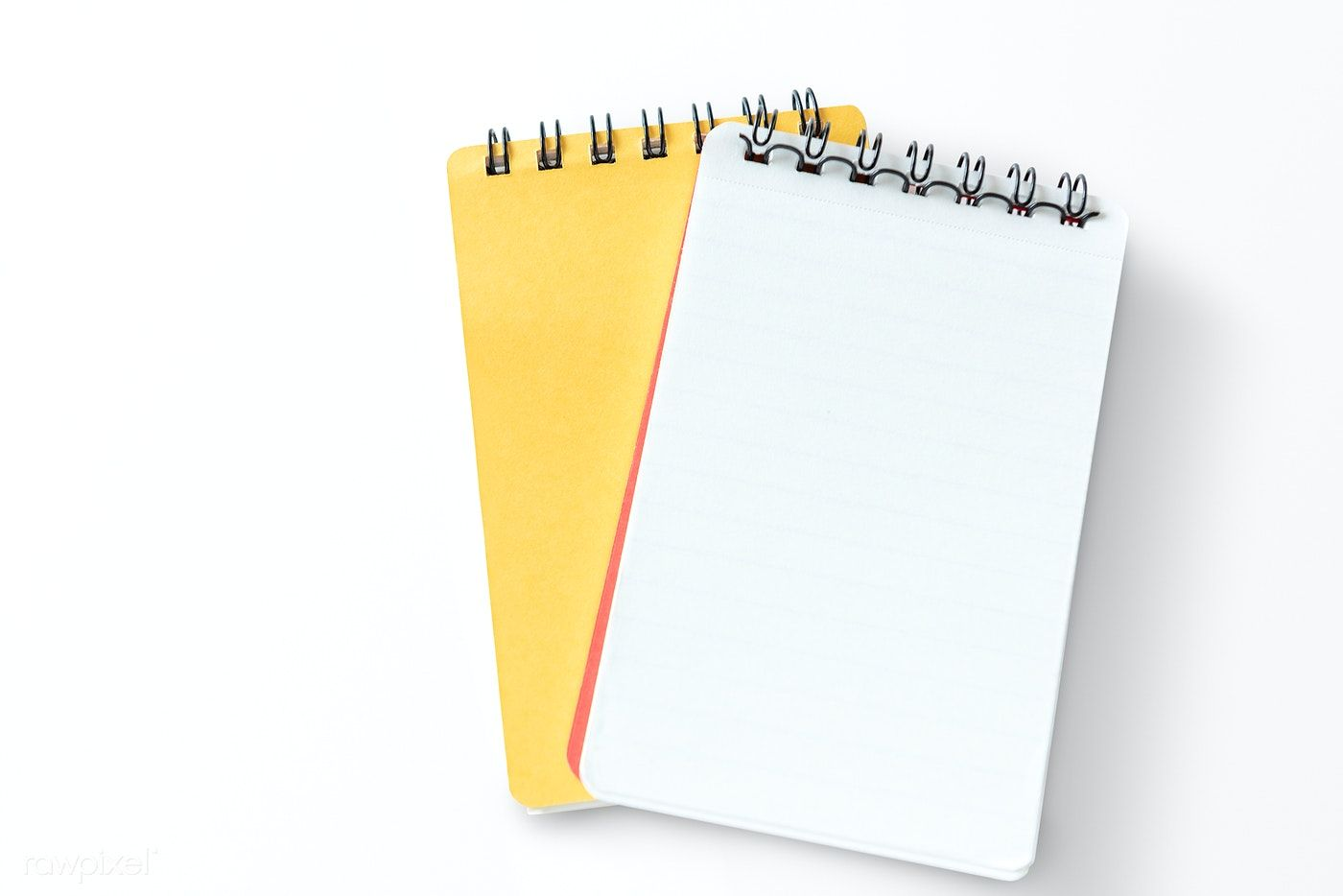 Two yellow lined notebooks mockup free image by rawpixel