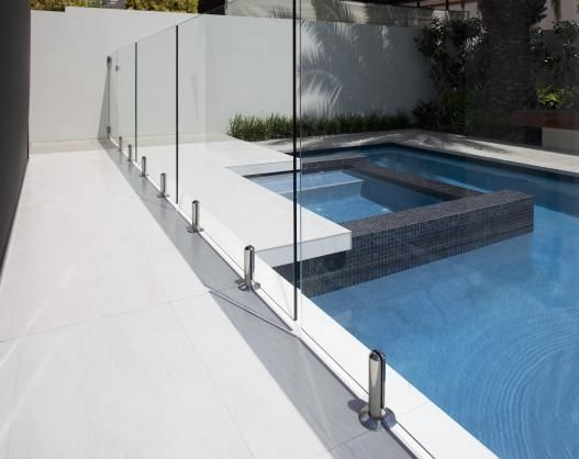 Pool Fencing Design Ideas Get Inspired By Photos Of Pool Fencing From Australian Designers Trade Profession In 2020 Glass Pool Glass Pool Fencing Fence Around Pool