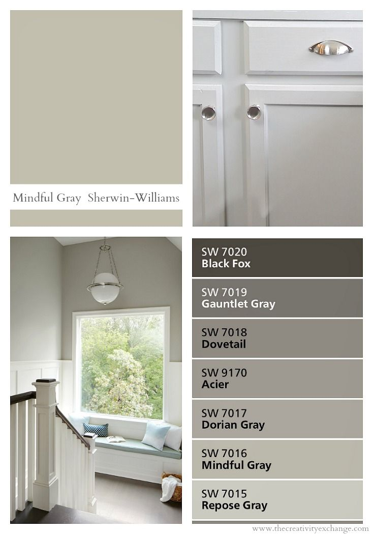 Sherwin Williams Mindful Gray Verstile Neutral Paint Color
