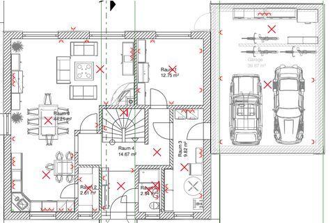 KNX Kosten anhand eines Beispiels. Licht und Steckdosen geplant im ...