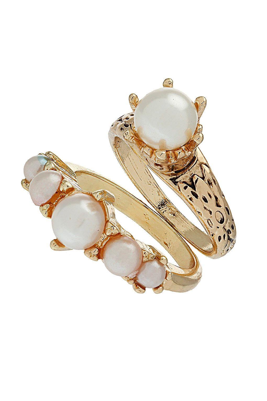 Pearl of Wisdom Rings - Topshop £8.50