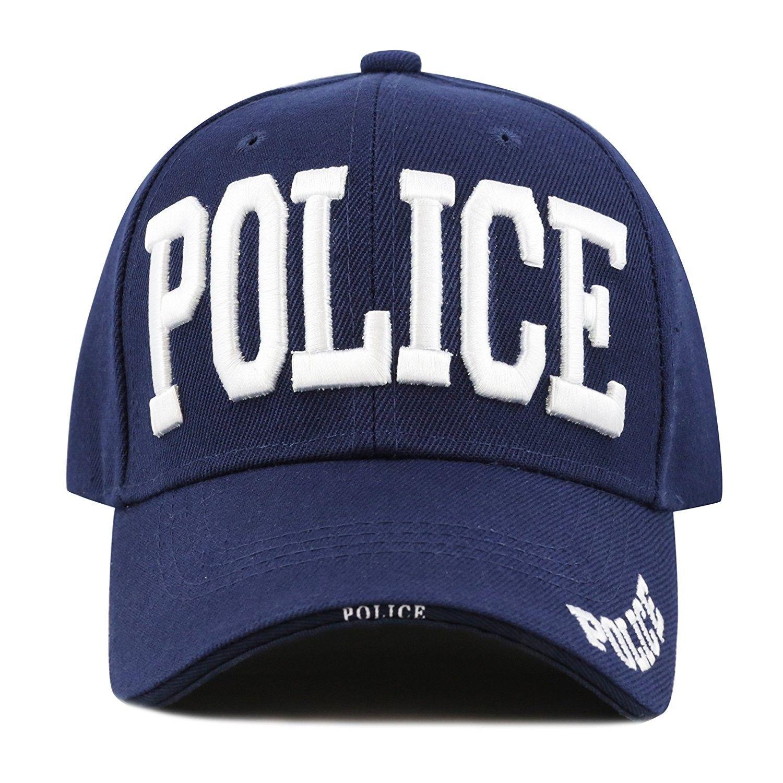 313b22318de 1100POLICE Police Logo Adjustable Cap - Navy White - CA126FJGOTH - Hats    Caps