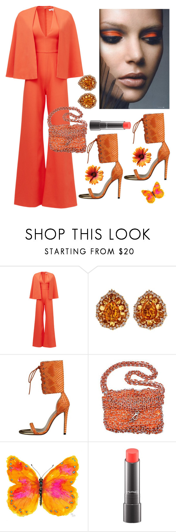 """""""Summer"""" by kotnourka ❤ liked on Polyvore featuring Alexis, Crivelli, claire's, NOVICA and MAC Cosmetics"""