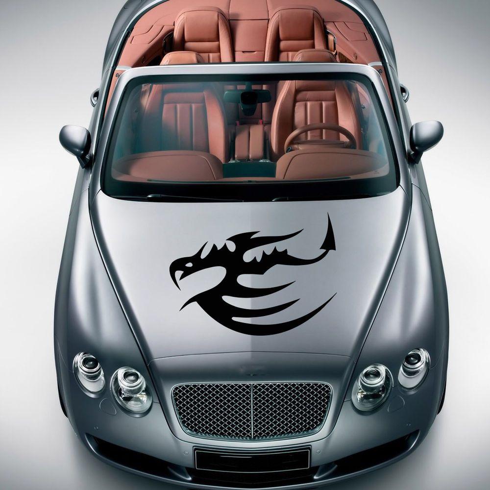 BEAUTIFUL DRAGON ANIMAL ART DESIGN HOOD CAR VINYL STICKER DECALS MURALS SV1339