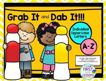 Grab It And Dab It Uppercase Letters A Z Uppercase Letters Lettering Abc Centers