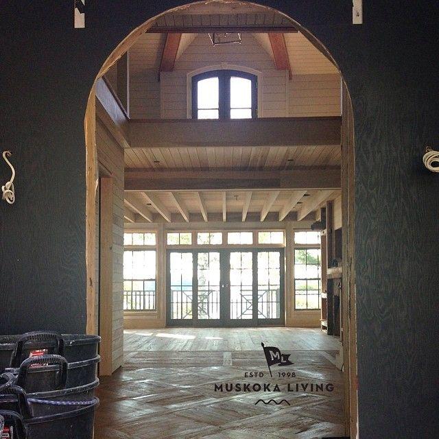 More site visits...this one is going to be good! #muskokalivinginteriors #muskokalivingarchitecture #muskokalivingprojects #muskoka #lakerosseau