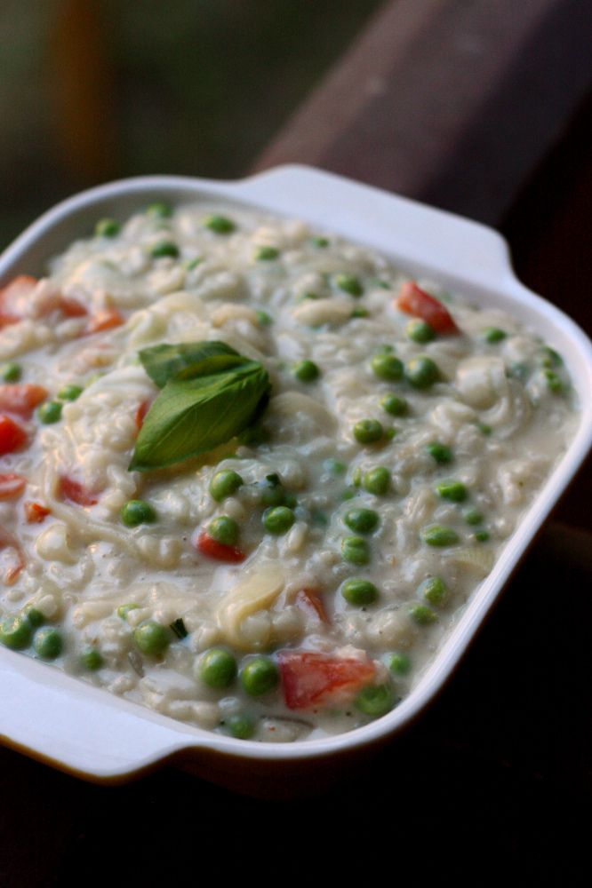 Vegetable Goat Cheese Risotto