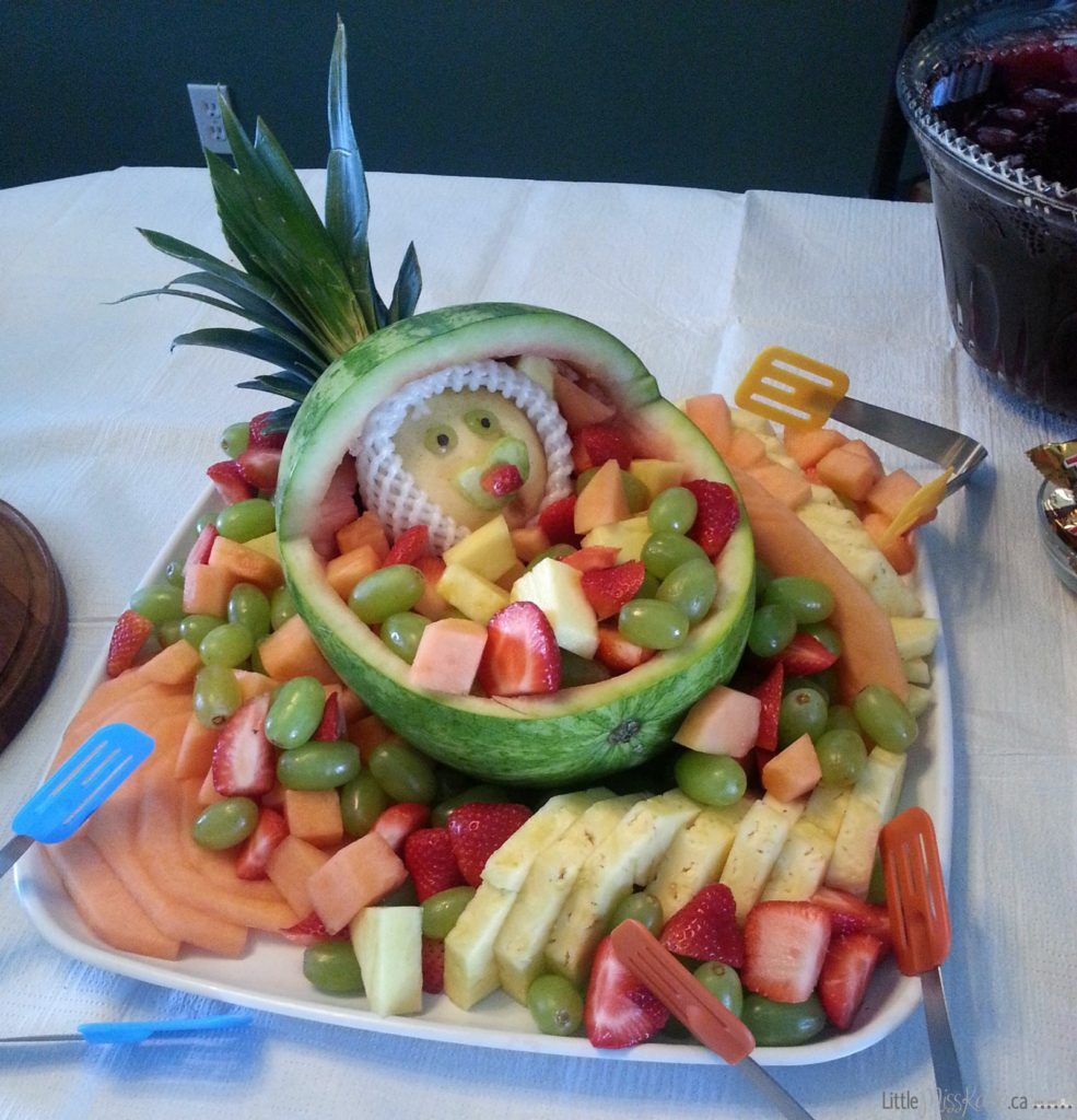 Baby Shower Food Ideas: Baby Carriage Fruit Salad Bowl | Baby ...