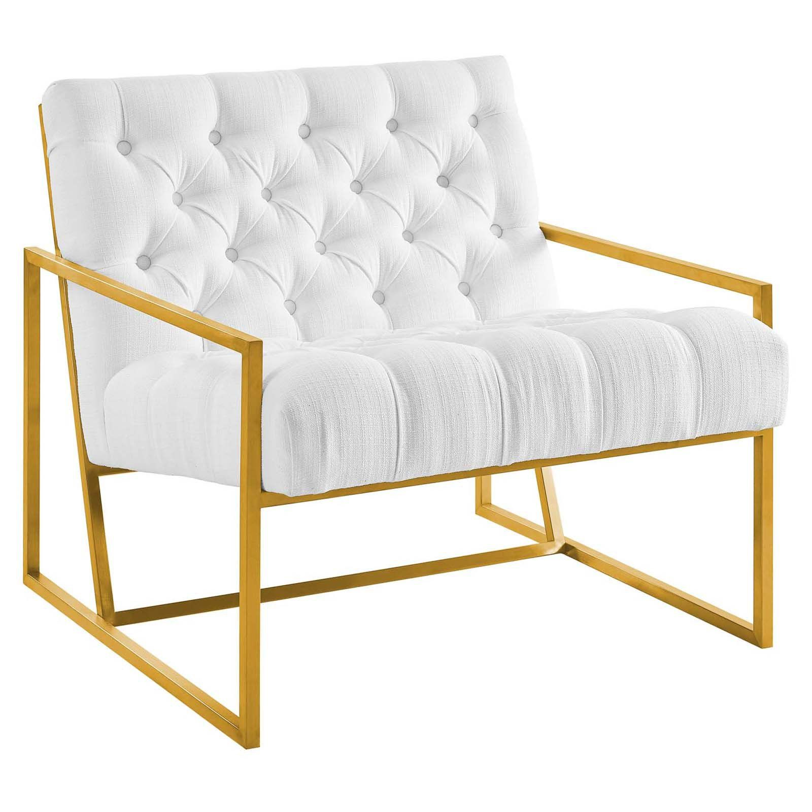Swell Modway Bequest Gold Stainless Steel Upholstered Fabric Ibusinesslaw Wood Chair Design Ideas Ibusinesslaworg