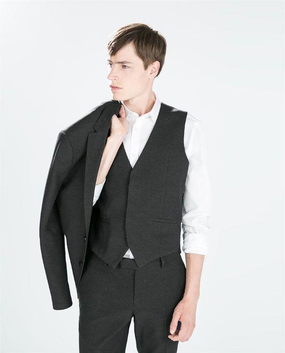 Chaqueta Traje Estructura Zara 100 Edition Gris Hombre q4HEwf5wxX