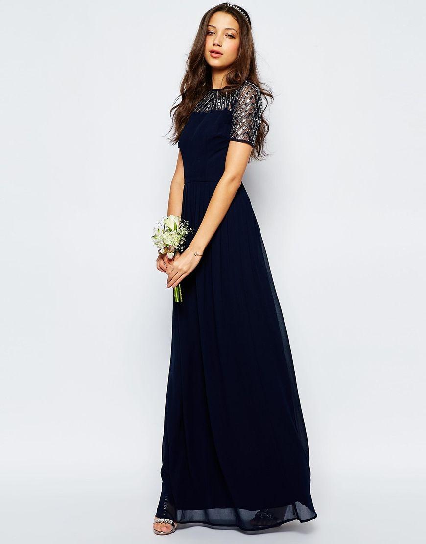 Bild 4 von Maya Tall – Verziertes Chiffon-Maxikleid   Dresses ...