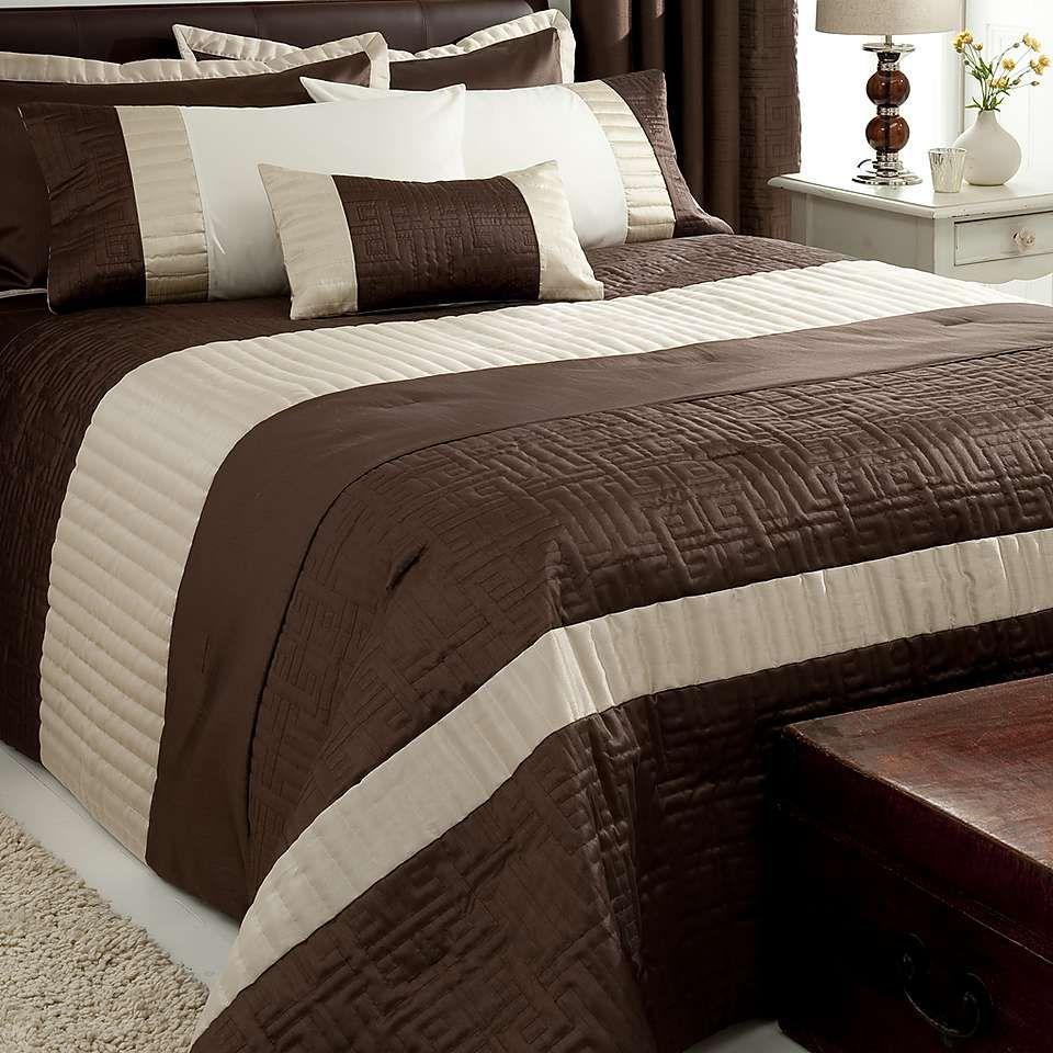 Chocolate Athens Bedspread | Dunelm