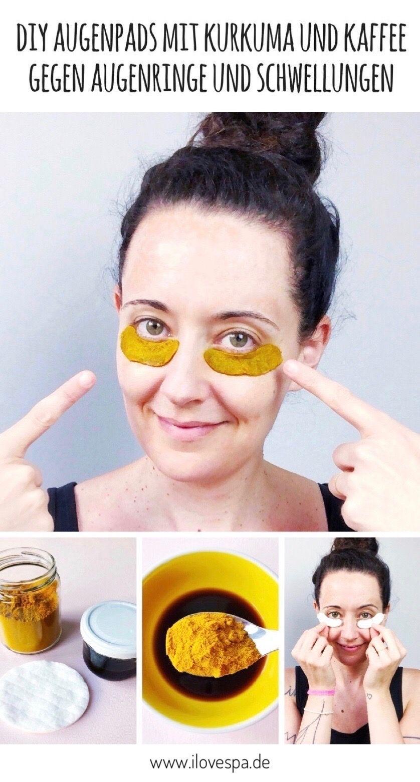 Kurkuma Kaffee Pads gegen Augenringe - DIY Kurkuma Augenringe Pads
