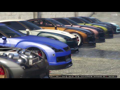 Gta 5 Online Elegy Rh8 Car Meet Ps4 First Person Cruising Show Drag Racing You
