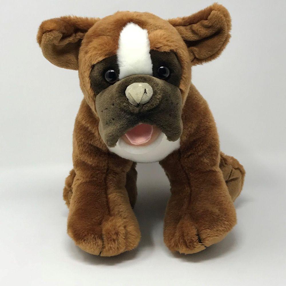 Build A Bear Workshop Plush Boxer Dog 16 Brown White Stuffed