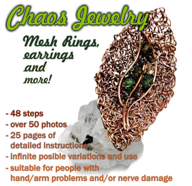 Chaos Jewelry Tutorial Easy Beginner Multi Functional Instructions For Rings Earrings Pendants Brooches Sculptures Decorative Bowls Etc Easy Possible Combinations Decorative Bowls