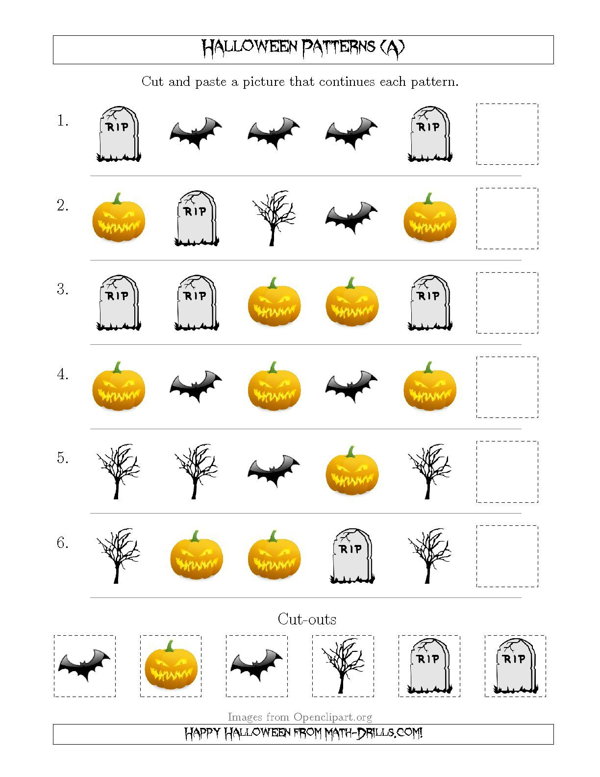 Scary Halloween Picture Patterns With Shape Attribute Only A Patterning Worksheet Halloween Math Worksheets Scary Halloween Pictures Halloween Patterns [ 1584 x 1224 Pixel ]