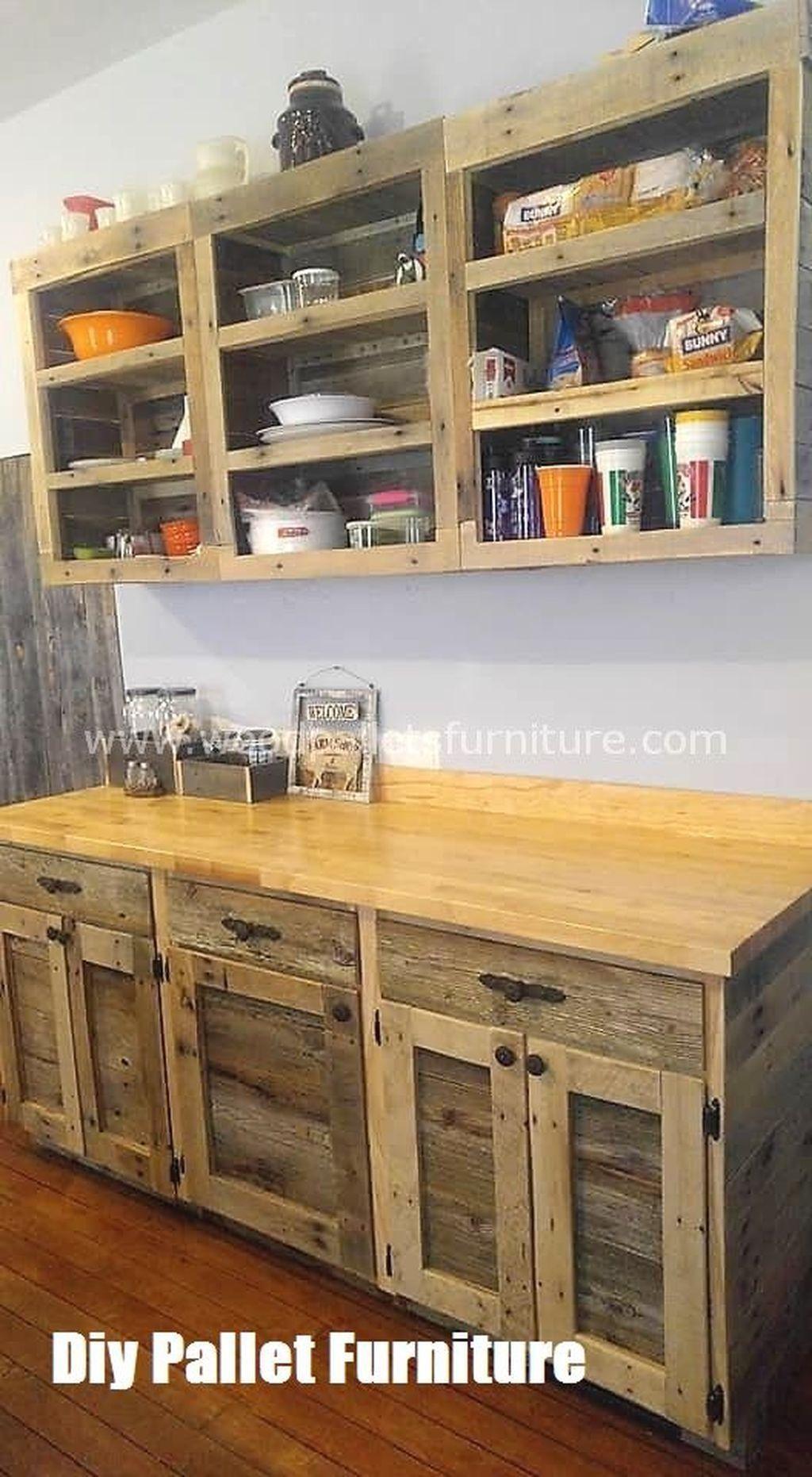 Diy Pallet Furniture Pallet Kitchen Cabinets Pallet Kitchen Pallet Projects Furniture P In 2020 Diy Pallet Furniture Pallet Kitchen Cabinets Pallet Kitchen
