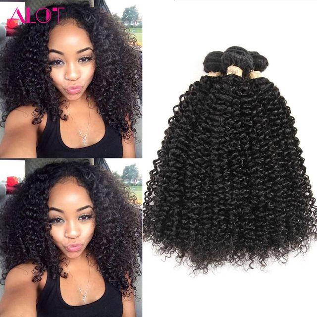 7a Mongolian Kinky Curly Hair Bundles 4 Pcs Lot Unprocessed