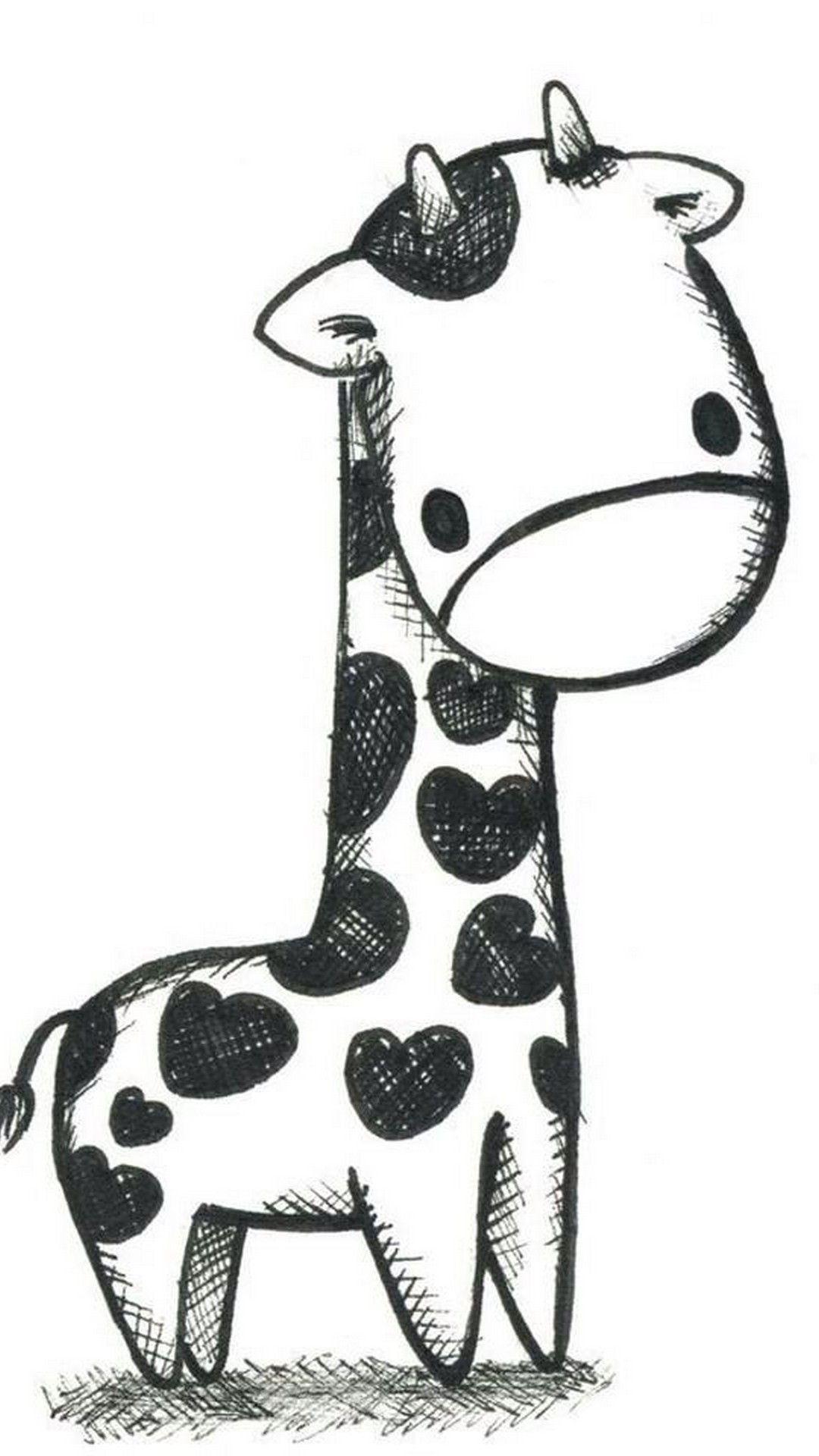 Giraffe Wallpaper Black and White Best iPhone Wallpaper