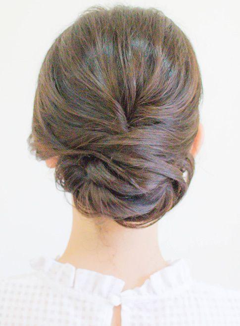 ミディアム つるっと綺麗めアップ Hair Coucouの髪型 ヘアスタイル