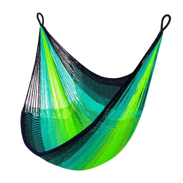 Boho Yellow Leaf Hanging Chair Hammock - A Perfect Hammock to Hang Indoors