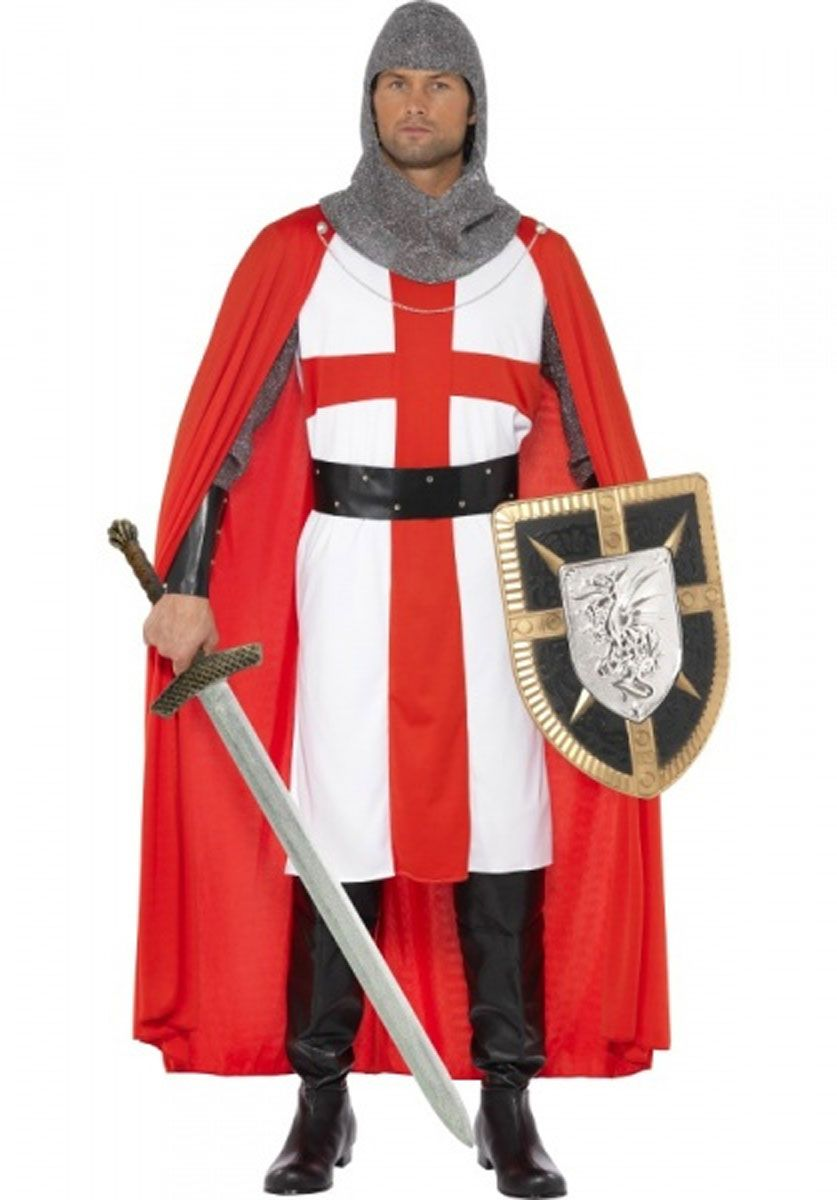 Kids Medieval BOYS KNIGHT ST George England Crusader Fancy Dress Party Outfit