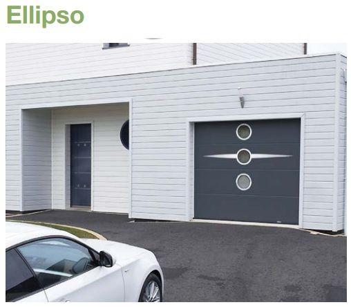 Porte De Garage Sectionnelle Sur Mesure Lisse Avec Personnalisation - Porte garage sectionnelle sur mesure